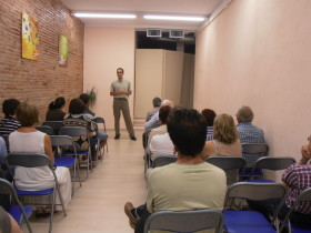 Conferencia sobre Sócrates en NA Sabadell. Sócrates, símbolo de la libertad