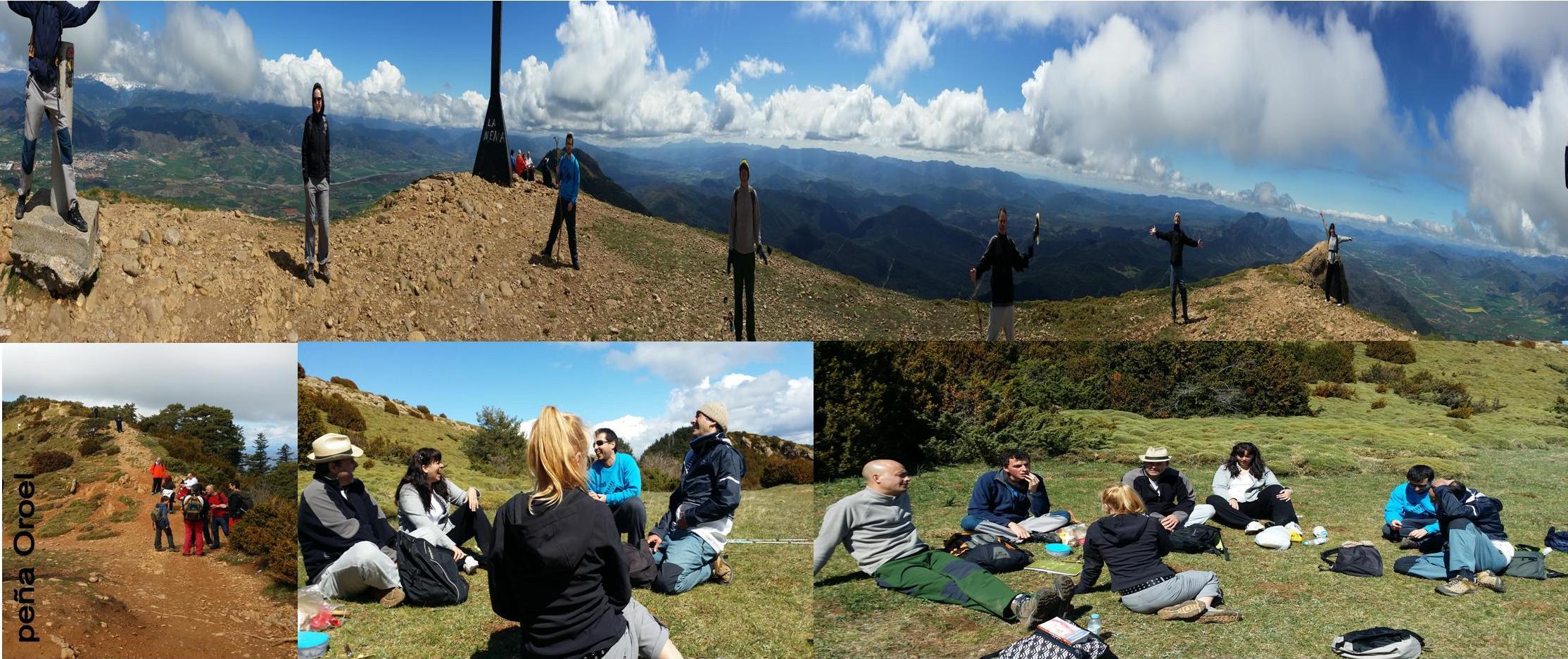 collage excursiónOroel