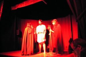 Orfeo y la Ménades an