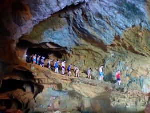 Dentro de la cueva.