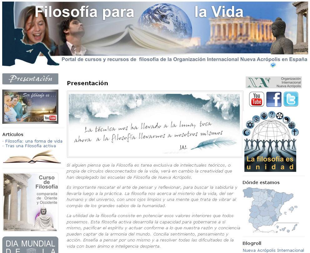 Web de filosofía de Nueva Acrópolis