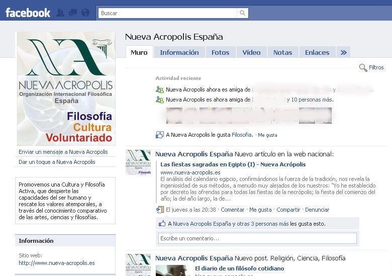 Nueva Acrópolis - España en Facebook