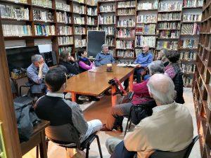 tertulia biblioteca en club de lectura