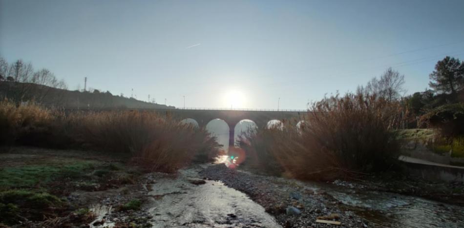Imagen del Puente de la Salut en Sabadell.